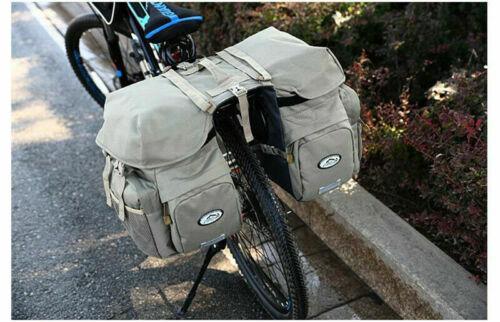 50L Cycling Bike Waterproof Pannier Bag Luggage MTB Bicycle Rear Seat Carrier
