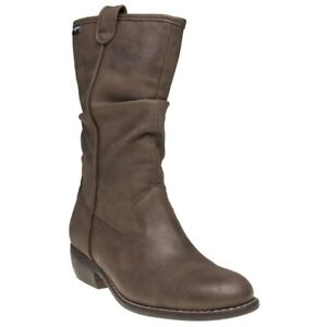 Tan Brown Boots Mid Zip gan Pull Hummus V New Synthetic calf Womens On Vegan ZtqBgg8Iw