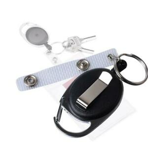 5Pcs-Retractable-Extendable-Key-Chain-Belt-Recoil-Key-Ring-Cord-Wire-Rings-newmc