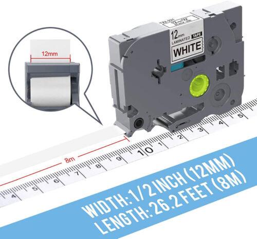 3X-10X Schriftband für Brother P-Touch TZ 231 731 PT H105 D200 1000 1010 1090