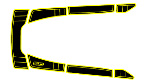 *NEW* HONDA RR REAR FENDER STRIPE Decal OEM 80111-MCV-G00ZB Graphic Sticker