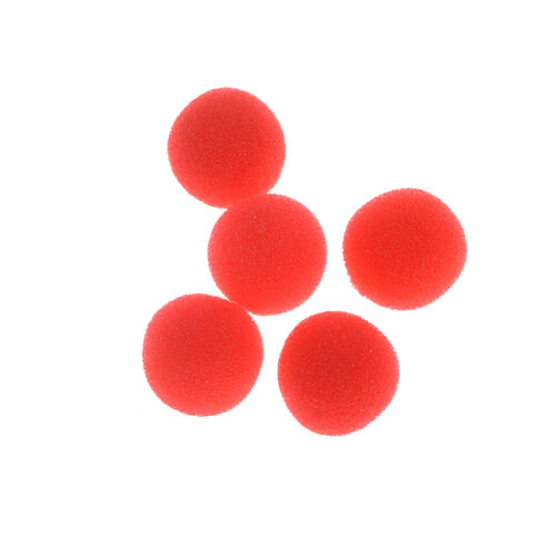 10xFinger Magic Props Sponge Ball Close-UP Street Illusion Stage Commedia Trick