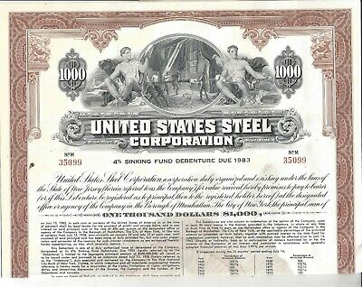Antique 170 Broadway Building New York City 1925 $1000 Sinking Fund Gold Bond