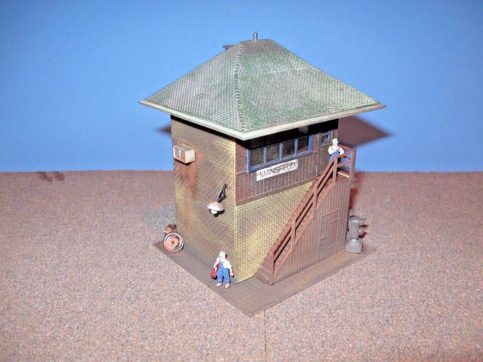Model Power HO Signal Tower.  Custom Built, Weatherosso & Detailed