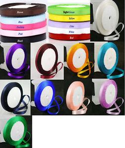 25-Yards-Satin-Ribbon-1-4-6mm-wide-choose-colour
