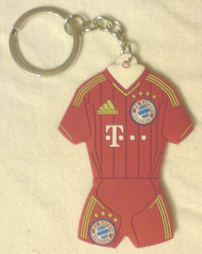 3D Schlüsselanhänger Rubber Trikot Mini-Trikot 12//13 Bayern München