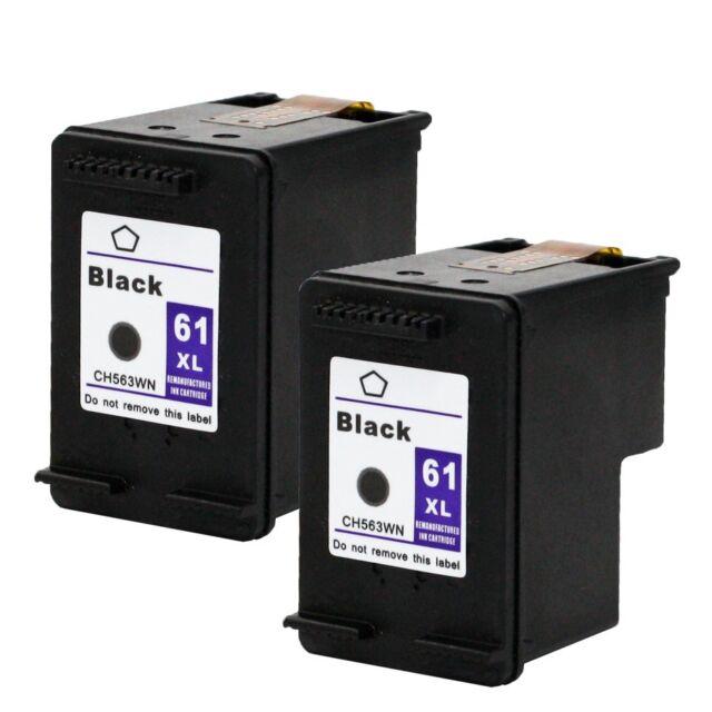 2PKs HP 61XL 61 XL Black Ink Cartridge For Deskjet 3510 3512 3516
