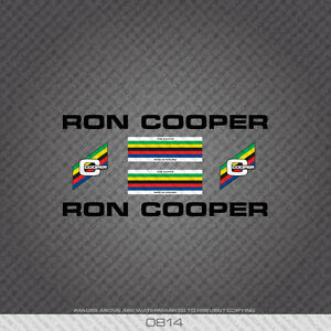 0814 Ron Cooper Bicycle Stickers - Decals - Transfers - Black