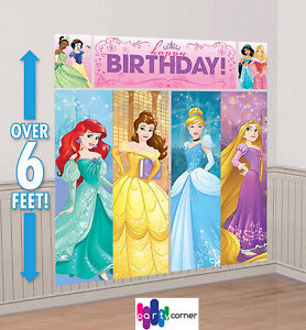 Image Is Loading Princess Birthday Party Supplies SCENE SETTER Wall Decorating