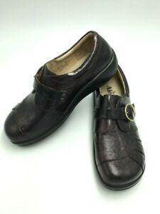 9791cf479d8 Alegria 39 9 9.5 Khloe Copper Streak Leather Clog Loafer Shoes KHL ...