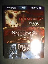 Friday the 13th/Nightmare on Elm Street/Freddy vs. Jason Blu-ray W/Slipcover