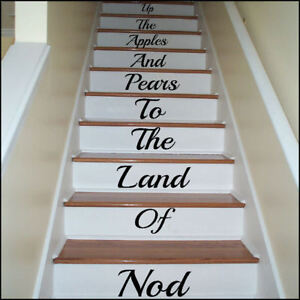 LARGE-STAIR-RISER-UP-THE-APPLE-AND-PEARS-TO-LAND-OF-NOD-STICKER-TRANSFER-DECAL
