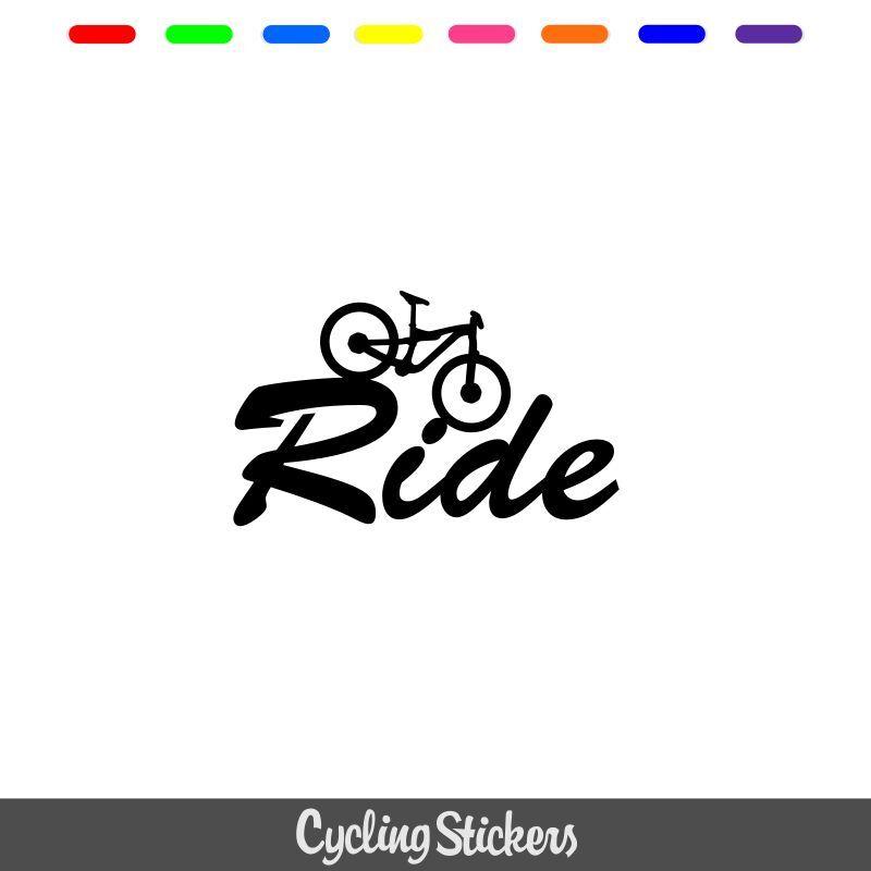 Pegatina Bicicleta Ciclismo Ventana Bumper Ride Carretera Moto Coche Adhesivo