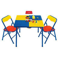 Lego Building Table W/ Chairs Block Play Kid Mega Blok Duplo Regular Storage Toy