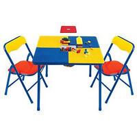 Lego Building Table W/ Chairs Block Play Kid Mega Blok Duplo Regular Storage Toy