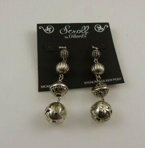 Sterling-Silver-Scroll-Dillards-earring-earrings-925-Dangle