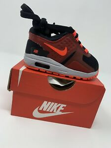 Details about BABY BOYS: Nike Air Max Zero Shoes, BlackNeon RedGray Size 3C 881227 005
