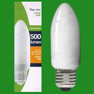 8-X-11W-basse-consommation-economie-d-039-energie-LCF-Ampoule-type-Bougie-ES-E27