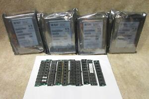 "(4) WESTERN DIGITAL WDE4360-1808A3 4.3GB SCSI 3.5"" HARD DRIVES + 72 Pin Ram Mem"