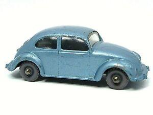 Matchbox-Lesney-No-25b-Volkswagen-Beetle-1200-error-de-fabrica-Sombrero-sin-Pintar