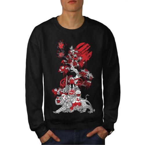 Wellcoda Japanese Knight Fantasy Mens Sweatshirt Japan Casual Pullover Jumper