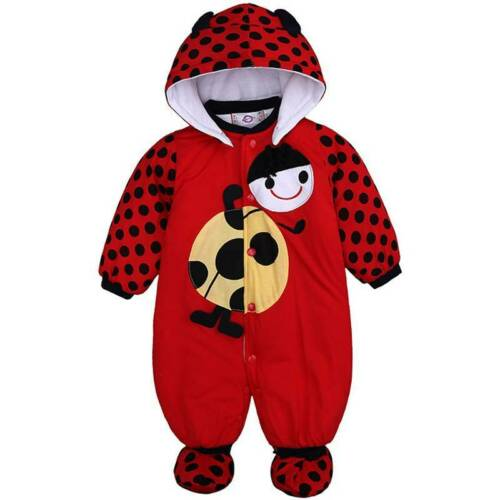 Newborn Infant Baby Girls Animal Hooded Romper Jumpsuit Bodysuit Outfits Clothes
