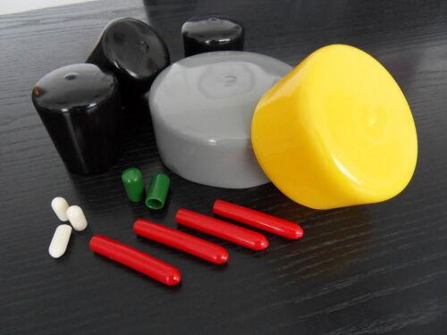 Kappen aus Weich PVC für Rundrohr Ø 30,0mm schwarz u gelb