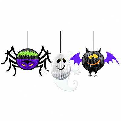 3 Halloween Hanging 3D Party Decorations Gruesome Group Hangers FREE P&P