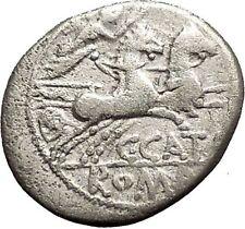 Roman Republic Rome 123BC CATO the CENSOR Grandson Victory Silver Coin i53888