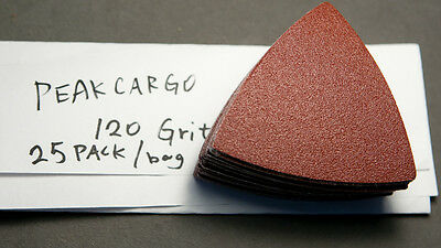 25 PCS P120 Grit Triangular Sanding Sheets Oscillating Makita Skil Dremel Fein