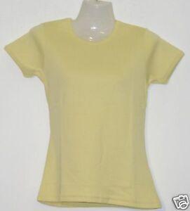 Girlie-T-Shirt-Uni-gelb-S-XXL