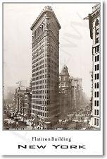 Flatiron Building - New York City -  Vintage NYC Architecture Photo POSTER