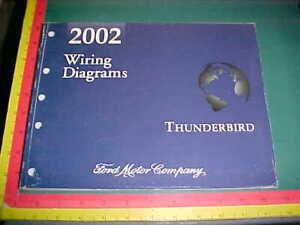 2002 Ford Thunderbird Wiring Diagrams Manual All Models Xlnt Ebay