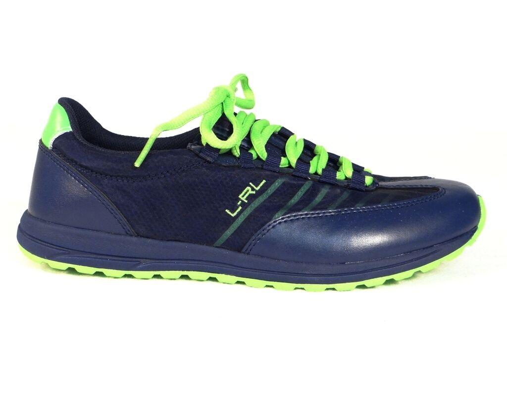 Lauren Ralph Lauren Falon Blau & Green Leder & Mesh Casual Schuhes Womans NWT
