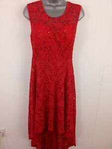 WOMENS-STELLA-HIGH-LONG-PROM-EVENING-DRESS-PADDED-LACED-NET-RED-12