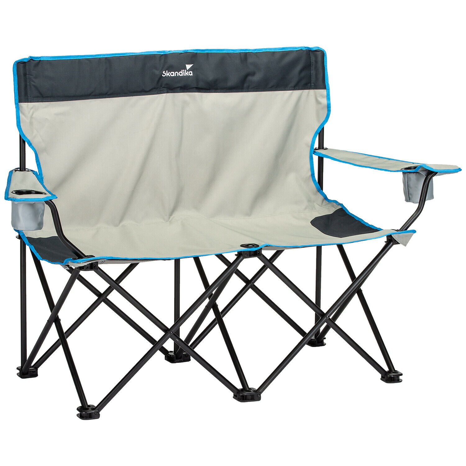 Skandika double folding chair camping chair Sitz bench 2 pers. max. 200 kg new
