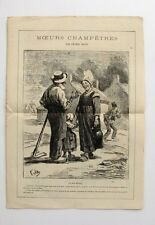 Petit Journal pour Rire n°125 - Moeurs Champêtres par Léonce Petit - A Grévin