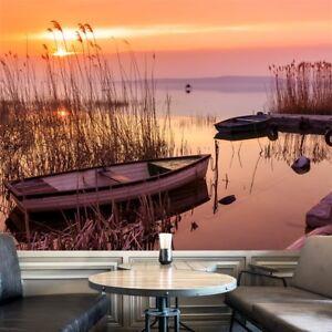 Details zu Orange Sonnenuntergang Fototapete Ruhige Landschaft Tapete  Schlafzimmer Haus