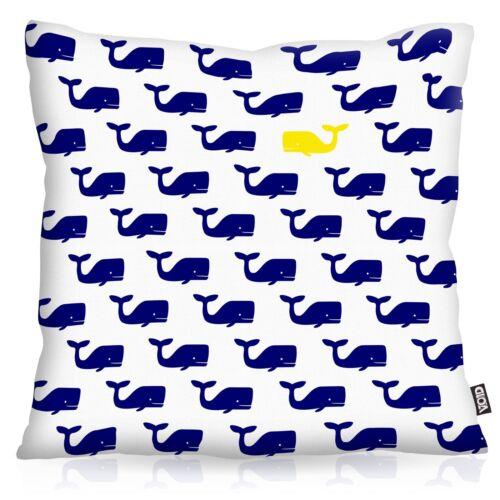 Walfamilie Océan Taie d/'Oreiller Coussin Housse Outdoor Indoor baleine baleines maritime Coussin