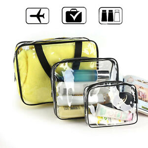 0c8b5fcbf0cb Image is loading 3-Pack-Waterproof-Clear-Cosmetics-Makeup-Bag-Toiletry-