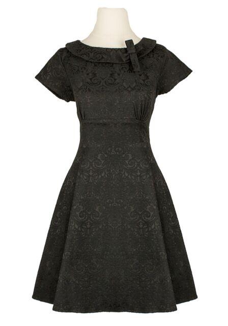 40s Vintage Style Retro Rockabilly Round Collar Summer Gothic Victorian Dress