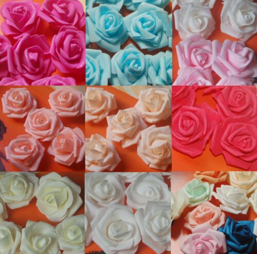 Espuma 8-25 rosas 6-8cm moosgummirosen foamrosen Rose Flowers rosas rosas cabezas