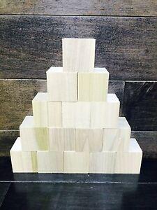 1 5 inch set of 15 1 5 unfinished 1 1 2 x 1 1 2 wood blocks cubes ebay. Black Bedroom Furniture Sets. Home Design Ideas