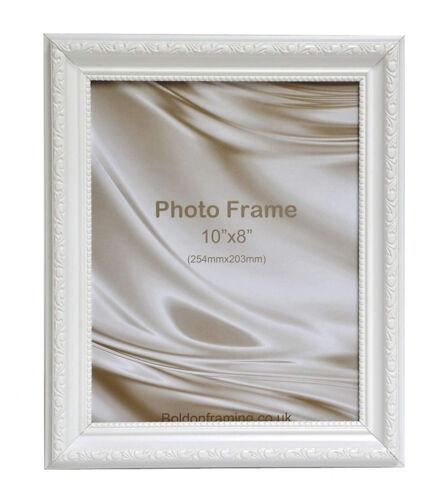 Ornate Shabby Chic Picture photo poster frame Square size White Gold Black Cream