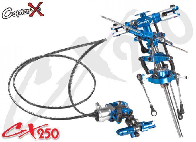 CopterX CX250-01-30 Metal Main redor Head Set & Tail redor Set Align Trex 250