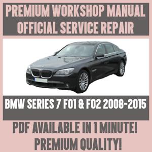 *WORKSHOP MANUAL SERVICE /& REPAIR for BMW 7 SERIES F01 /& F02 2008-2015