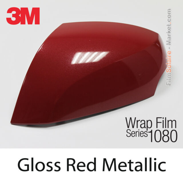 3m Vinyl Wrap For Sale >> 20x30cm Film Gloss Red Metallic 3m 1080 G203 Vinyl Covering Series Wrapping