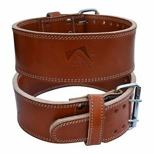 Aqf Cow Hide Leather Weight Lifting Belt Powerlifting Belt