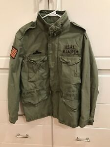 Ralph Green Jacket Polo Military Details Olive Lauren Men's American Usa About Large Field n8mN0w