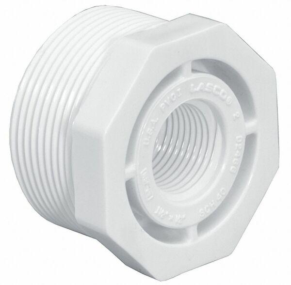 QTY 1 LASCO 839-098 3//4-in x 1//4-in PVC SCH 80 Reducer Bushing D2462//D2467 NOS